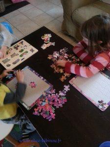 activité puzzles pour commencer la matinée