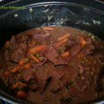 sauté de bœuf aux petits pois carottes