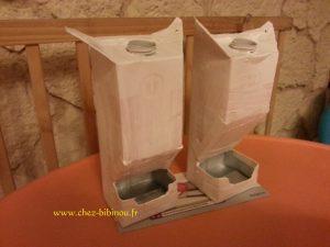 sous couche sur boîtes de lait (apprêt gesso tous suports disponible aux rayons beaux arts)