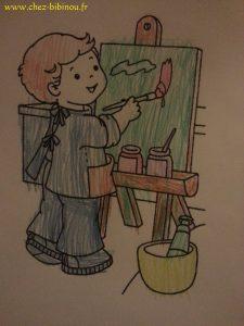 coloriage rentrée scolaire