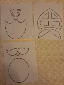 dessiner un gabarit de St Nicolas, avec les différents éléments du visage