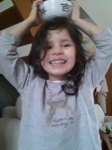 le sourire de Bibinou malgré la varicelle :-)
