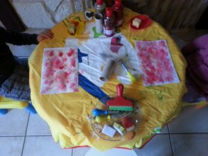 peinture rouge...