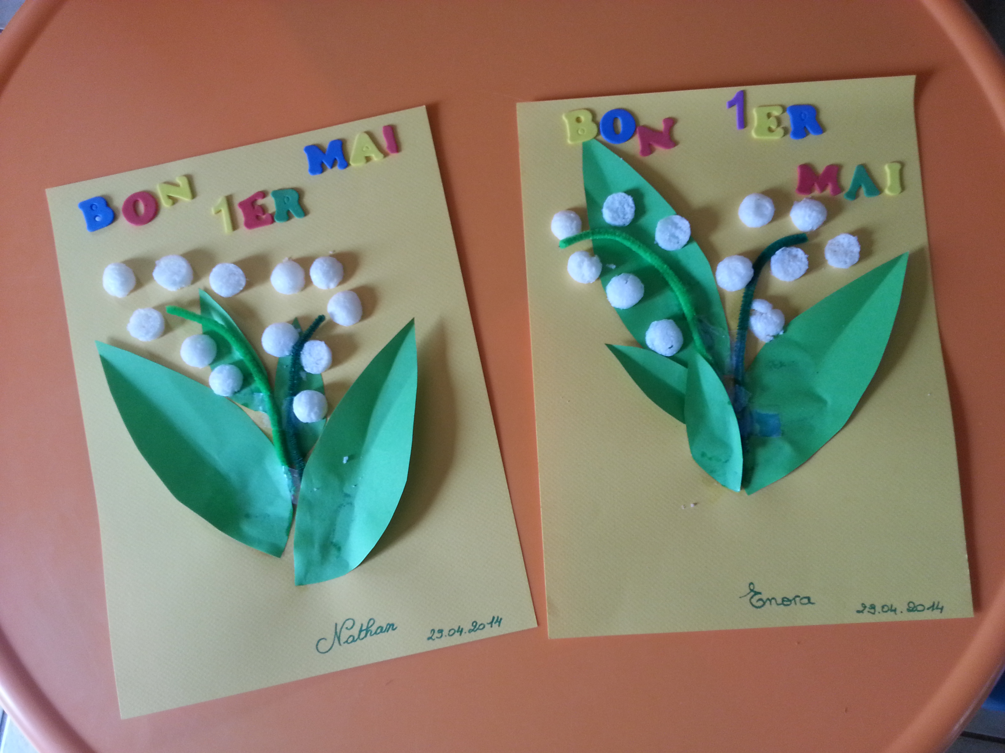 Muguet de mai chez bibinou - Activite manuelle sur le printemps ...
