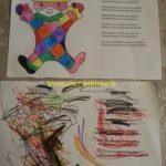 arlequin colorié par Enora et Emma