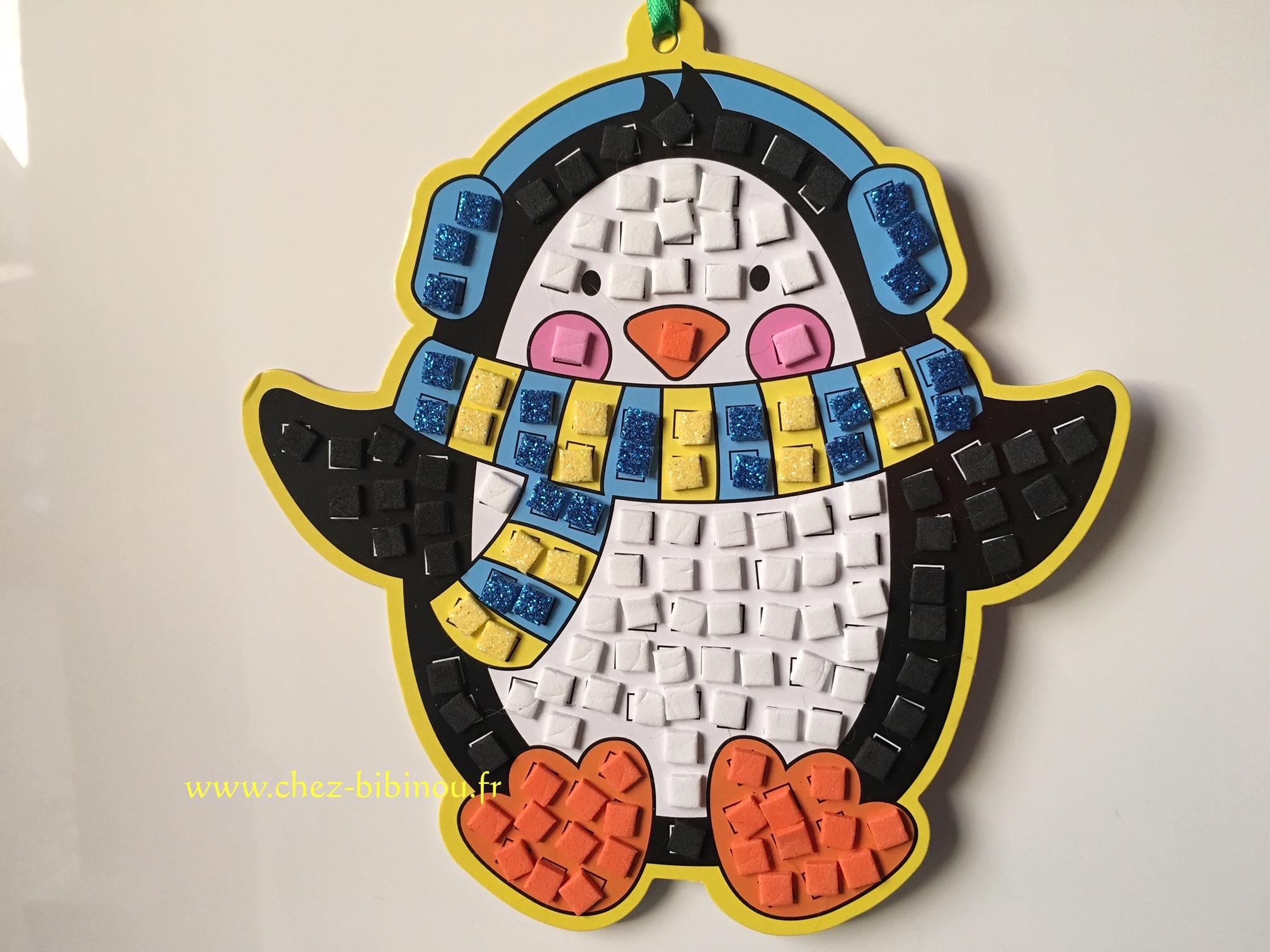 Pingouin en mosaïques
