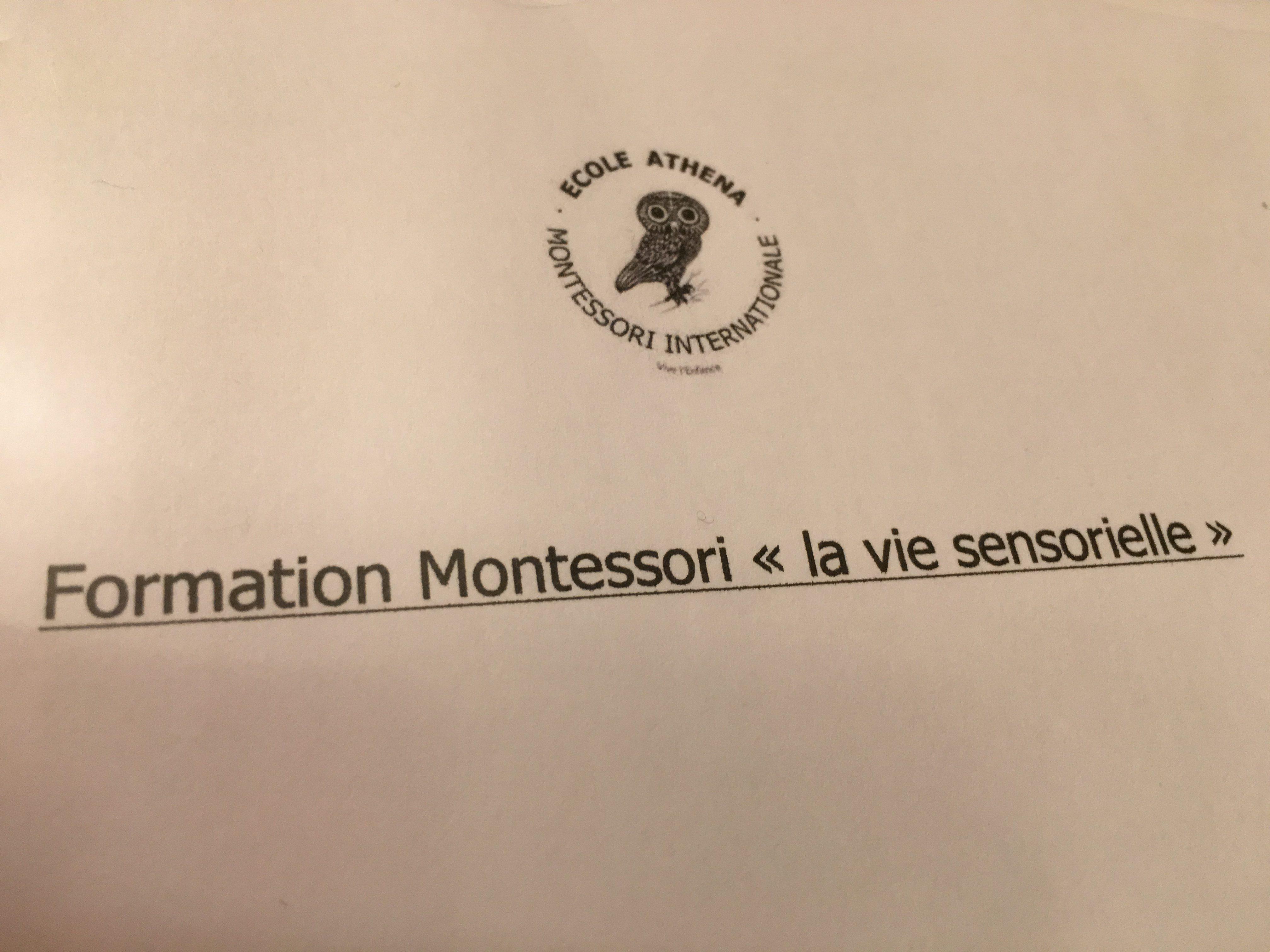 "Montessori, ""Vie sensorielle"" 13 mai 2017"